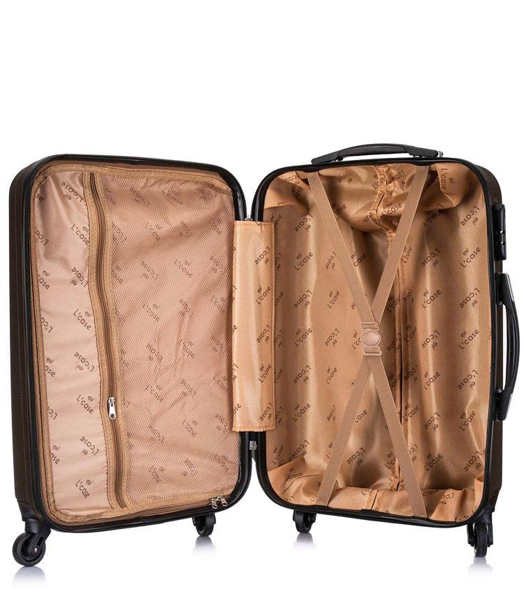 Большой чемодан спиннер Lcase Krabi Coffee (72 см)