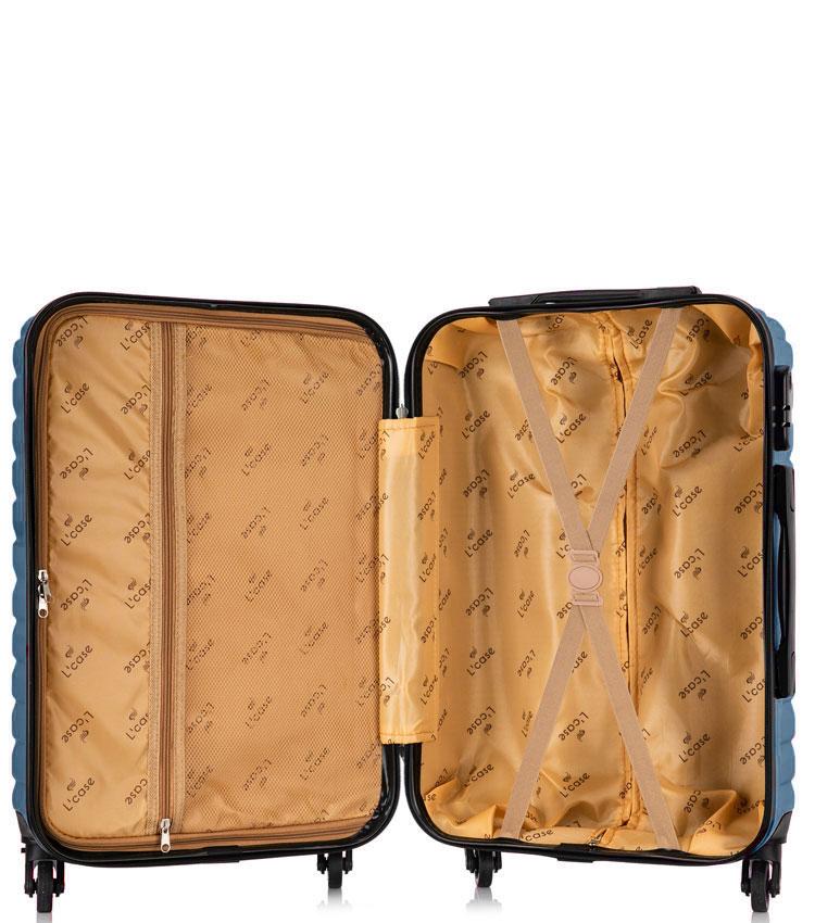 Большой чемодан спиннер Lcase New-Delhi dark blue (71 см)