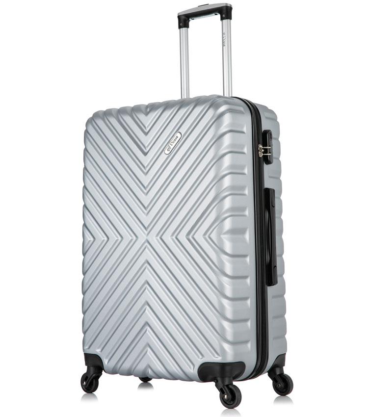 Средний чемодан спиннер Lcase New-Delhi gray (61 см)