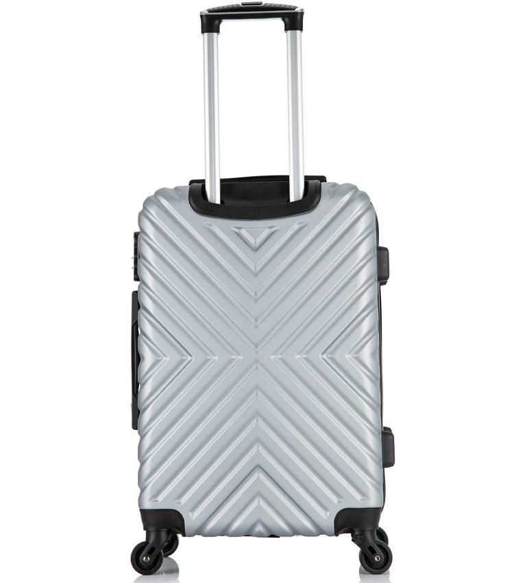 Большой чемодан спиннер Lcase New-Delhi gray (71 см)