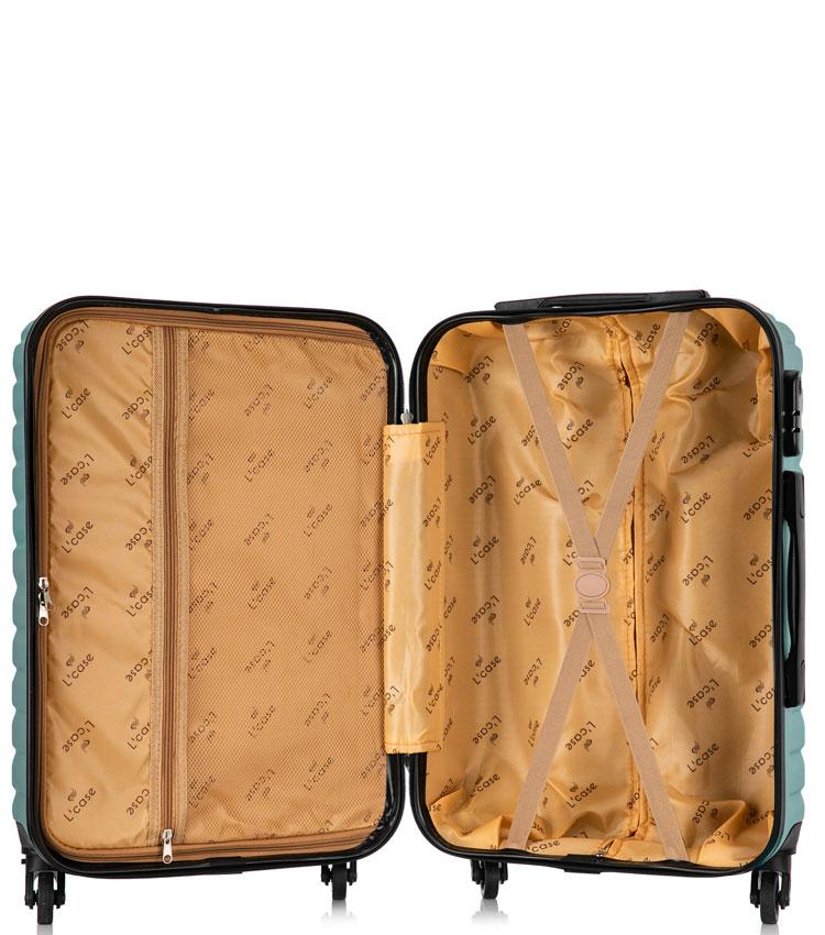 Большой чемодан спиннер Lcase New-Delhi green (71 см)