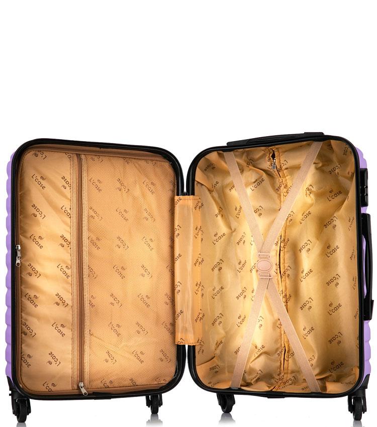 Большой чемодан спиннер Lcase New-Delhi purpule (71 см)