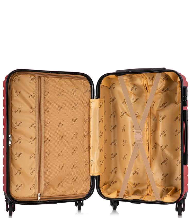 Большой чемодан спиннер Lcase New-Delhi red wine (71 см)