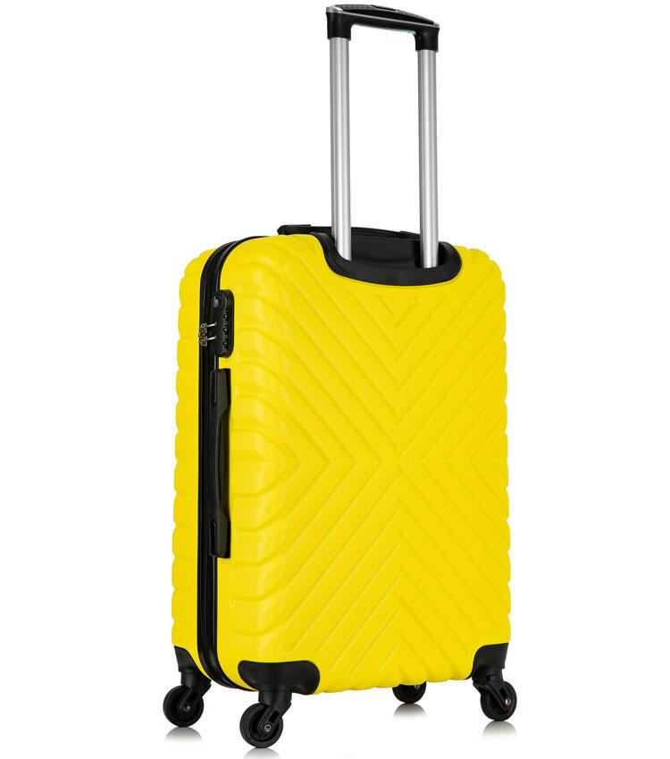 Большой чемодан спиннер Lcase New-Delhi yellow (71 см)