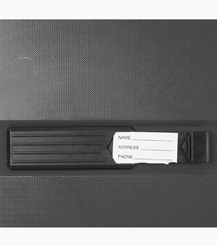 Малый чемодан спиннер Lcase Singapore black (57 см)