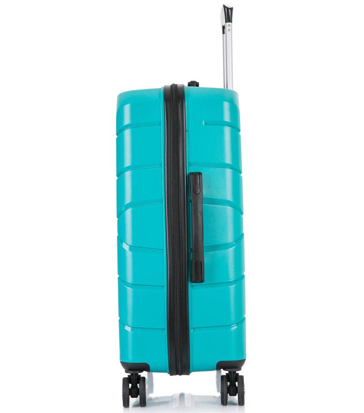 Большой чемодан спиннер Lcase Singapore green (78 см)