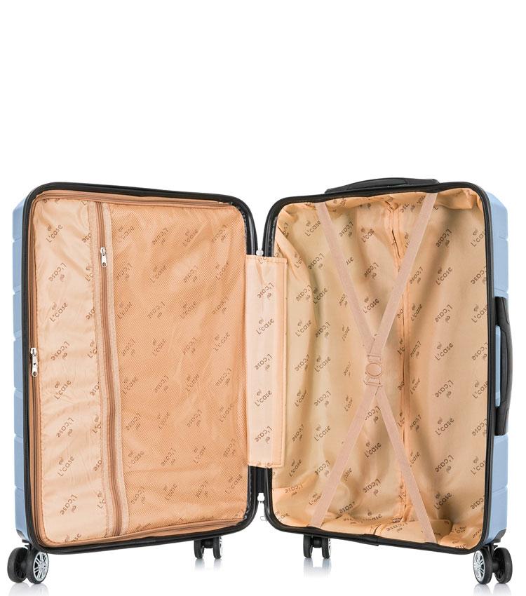 Большой чемодан спиннер Lcase Singapore navy (78 см)