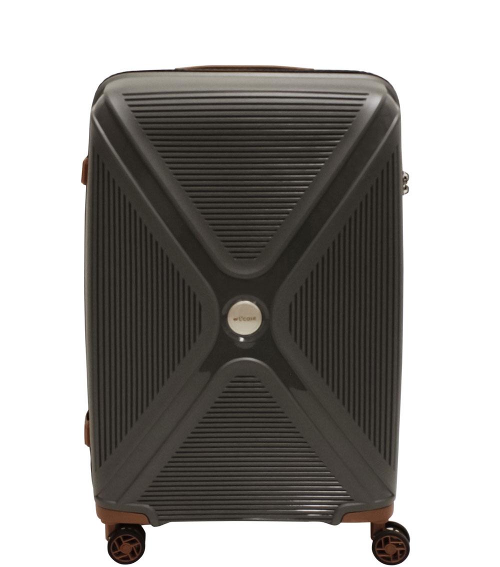 Большой чемодан L-case Berlin gray