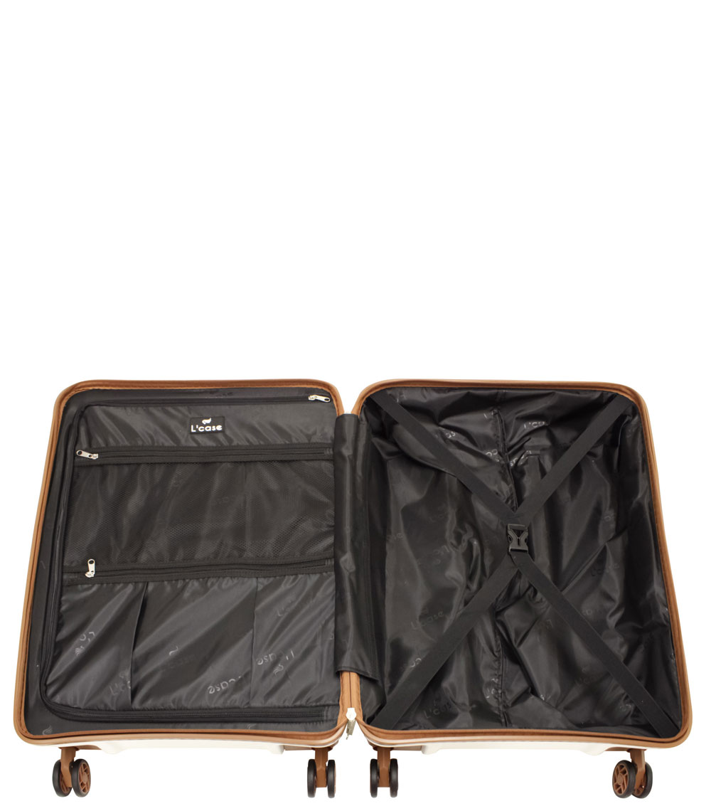 Большой чемодан L-case Berlin white
