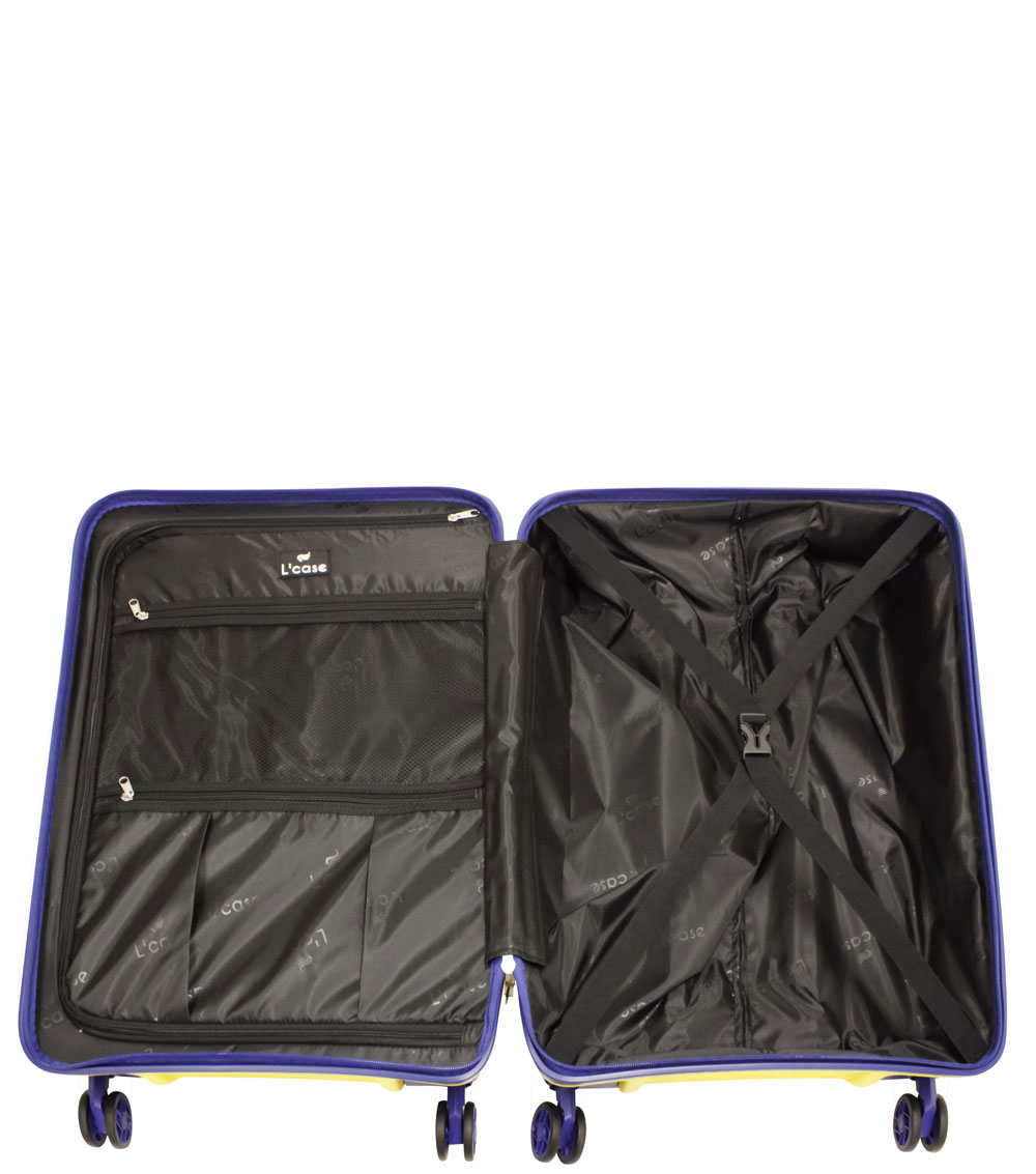 Большой чемодан L-case Berlin yellow