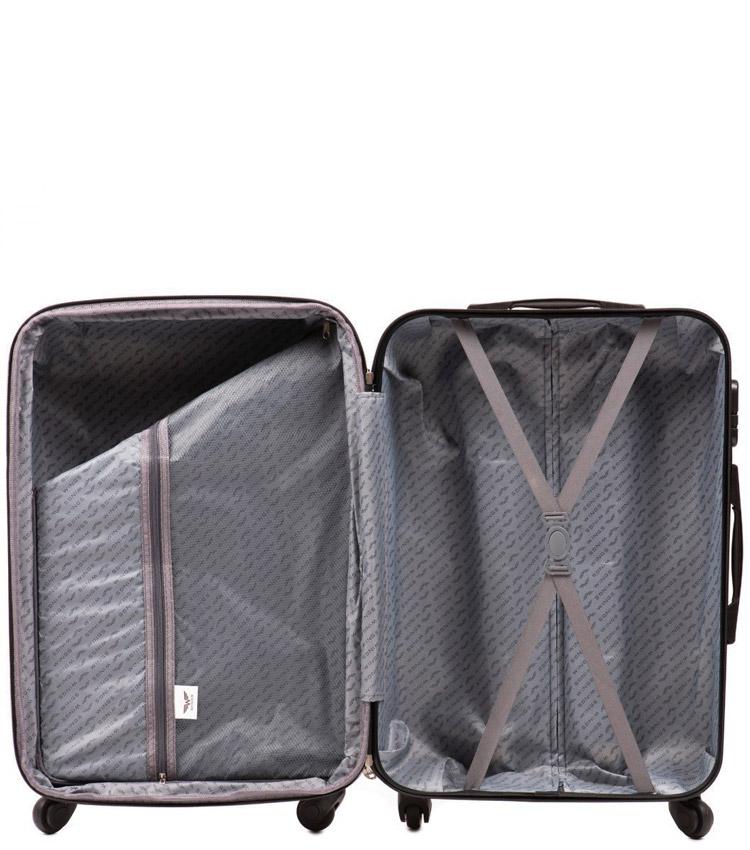Малый чемодан Wings Peacock 147-4 - Silver (55 см)