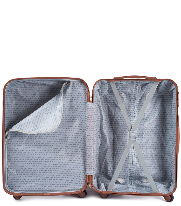 Малый чемодан Wings Albatross 402-5 - Dark grey (55 см)