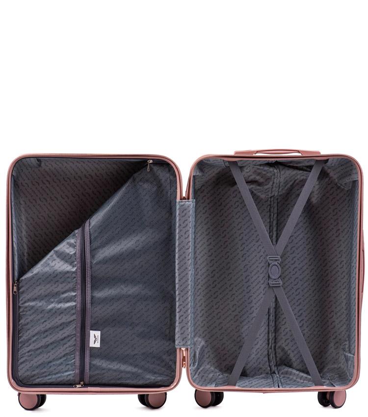 Средний чемодан Wings Dove WN01-4 - Rose Gold (65 см)