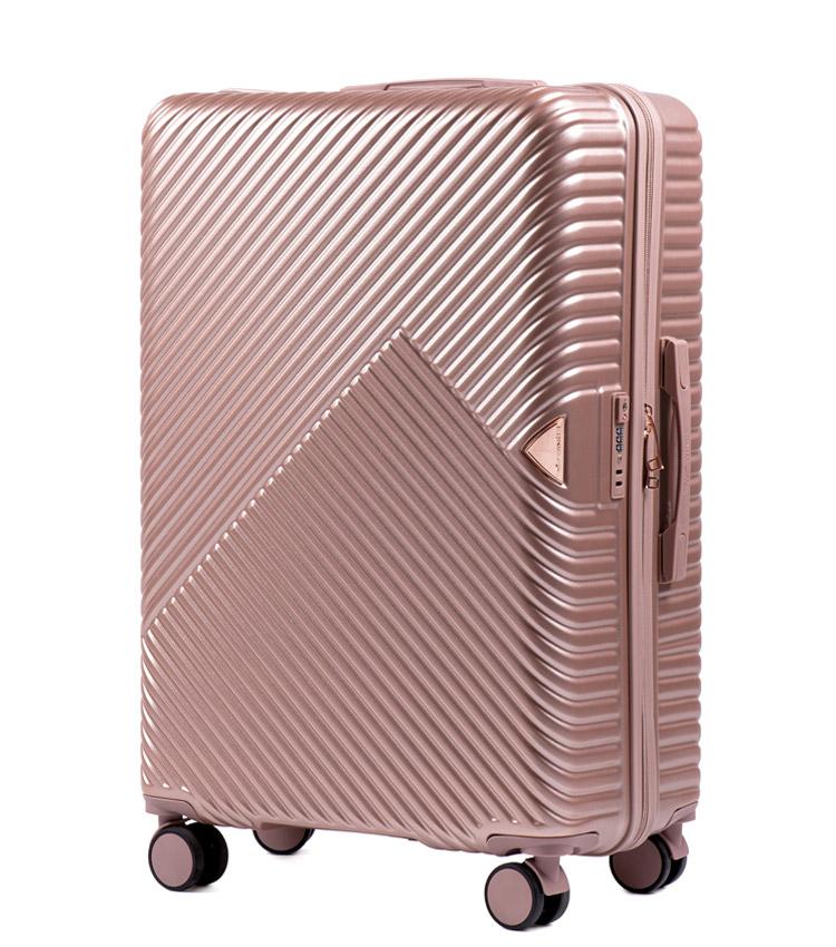 Большой чемодан Wings Dove WN01-4 - Rose Gold (78 см)