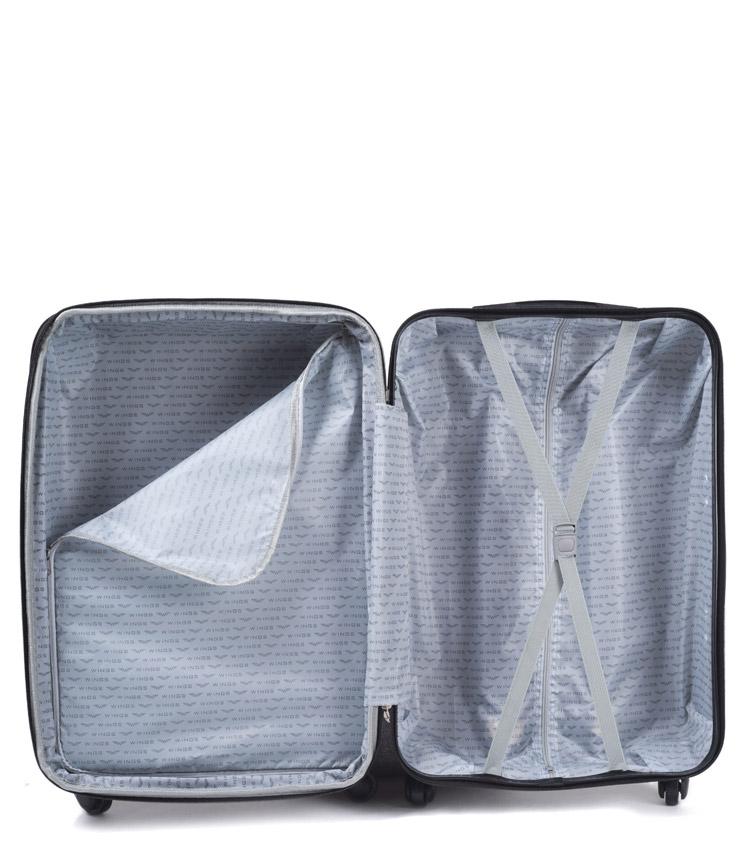 Большой чемодан Wings Flamingo 2011-3 - Dark grey (75 см)