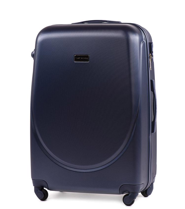 Большой чемодан Wings Goose 310-4 - Blue (75 см)