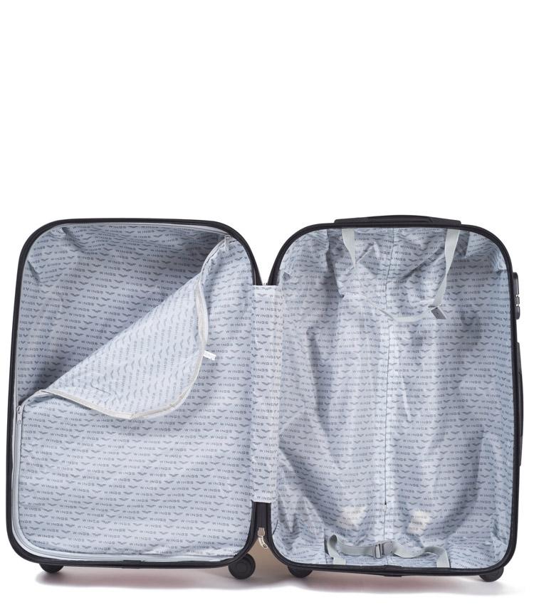 Большой чемодан Wings Goose 310-4 - Silver blue (75 см)