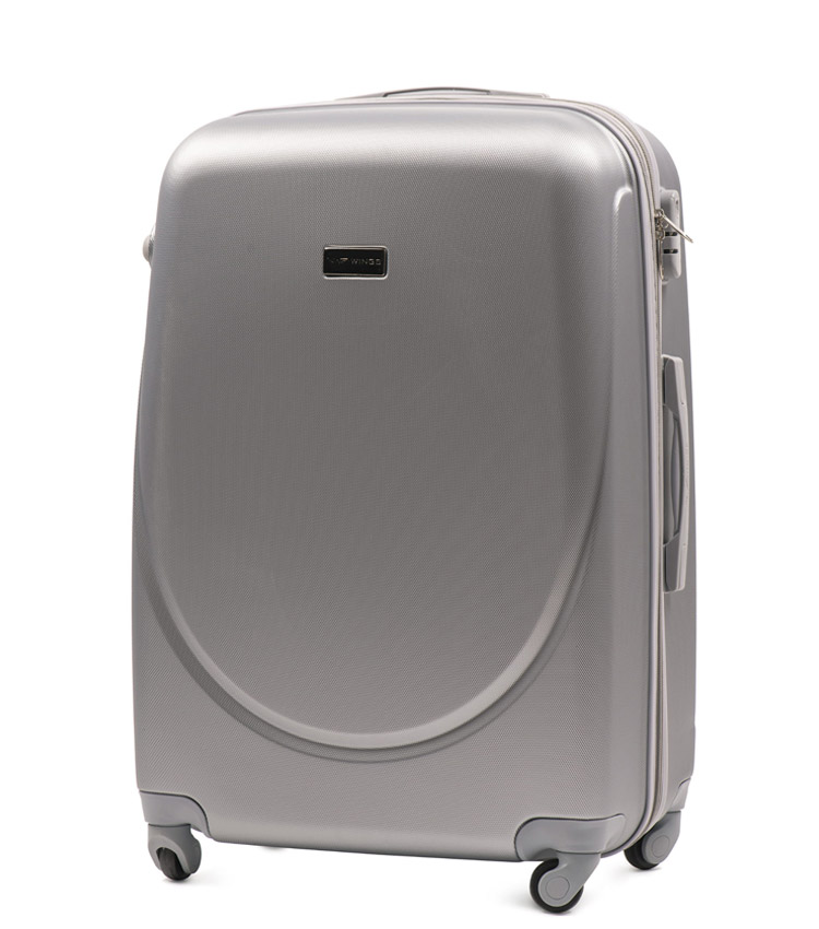 Большой чемодан Wings Goose 310-4 - Silver (75 см)