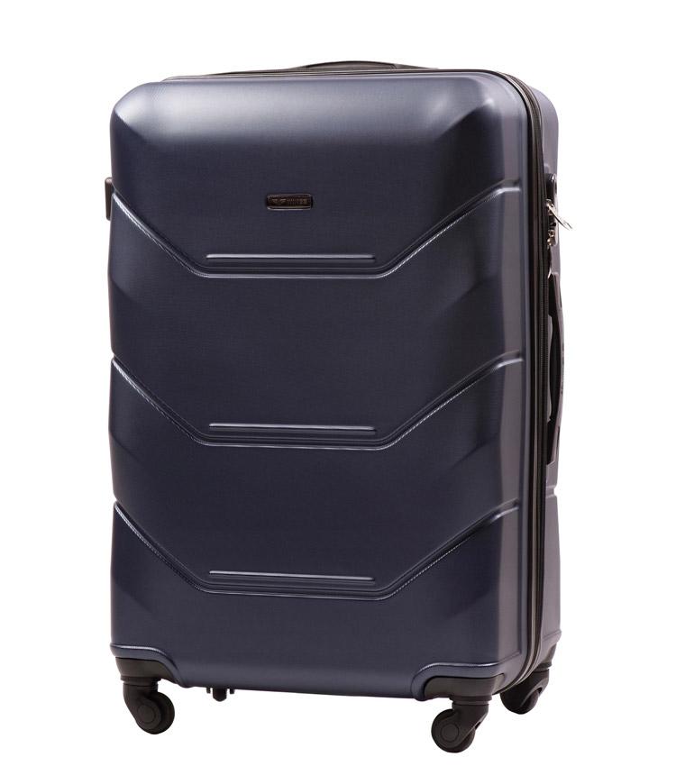 Большой чемодан Wings Peacock 147-4 - Blue (75 см)