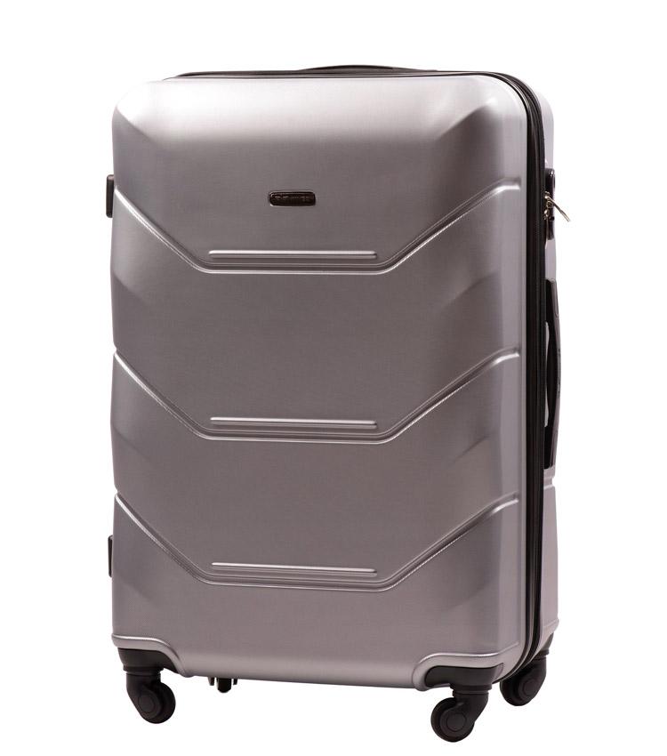 Большой чемодан Wings Peacock 147-4 - Silver (75 см)