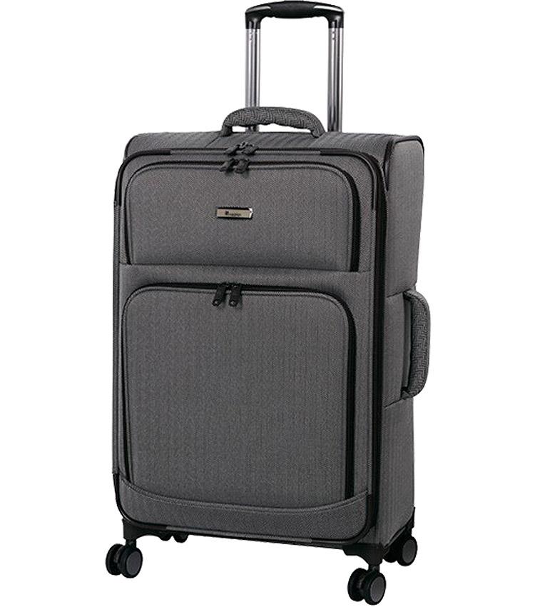 Большой чемодан IT Luggage Esteemed 12-2454-08 (81 см) - Dark beige herringbone