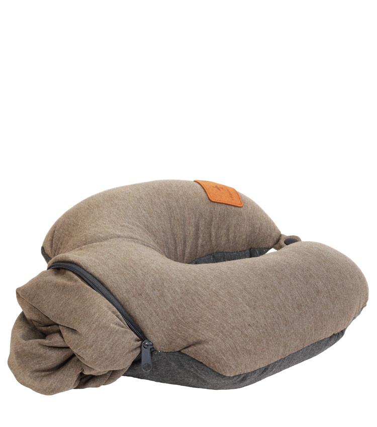 Дорожная подушка Travel Pillow Barrel 2 in 1 brown