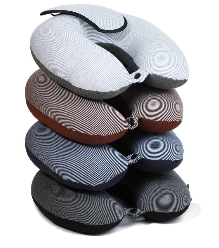 Дорожная подушка Travel Pillow Stripes light gray strip