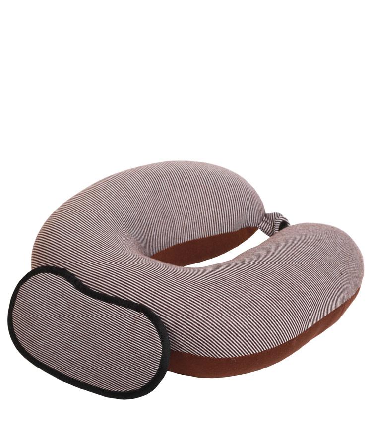 Дорожная подушка Travel Pillow Stripes brown strip