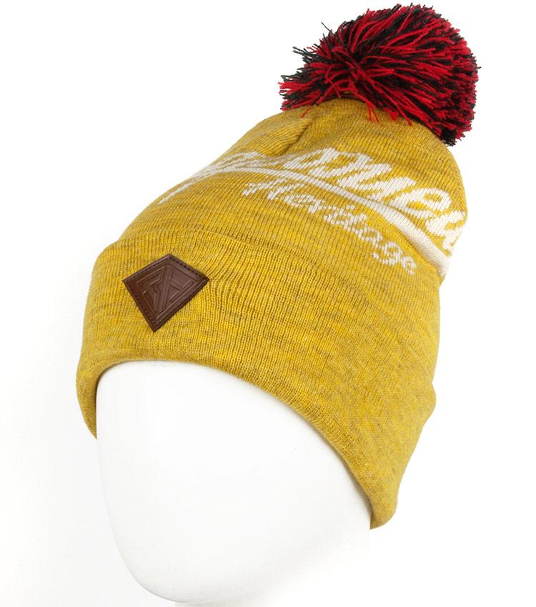 Шапка с помпоном Запорожец Logo yellow