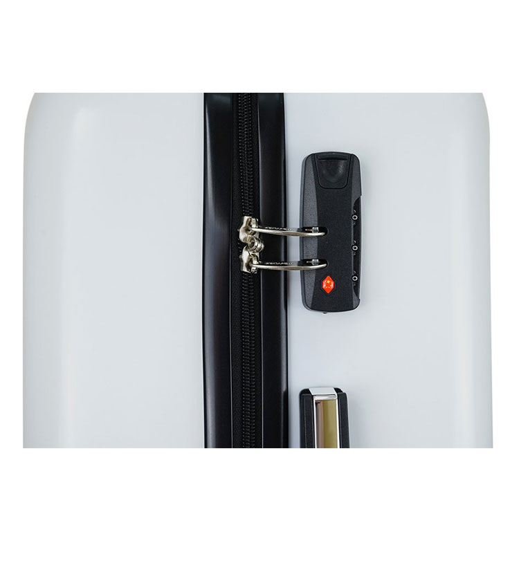 Малый чемодан спиннер Lcase I LOVE THE WORLD (52 см) ~ручная кладь~