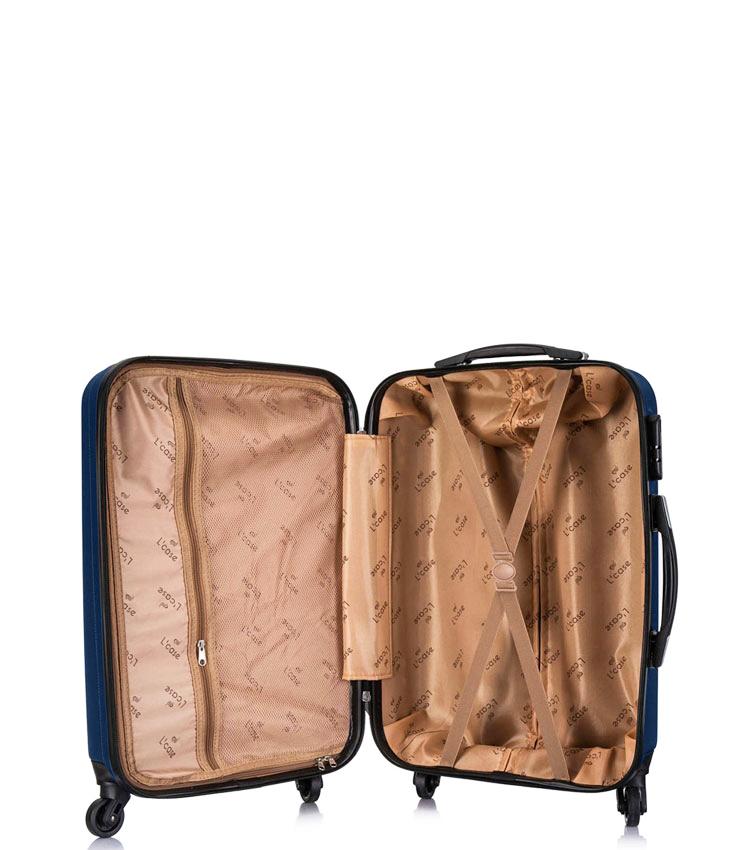 Малый чемодан спиннер Lcase Krabi Dark blue (54 см)