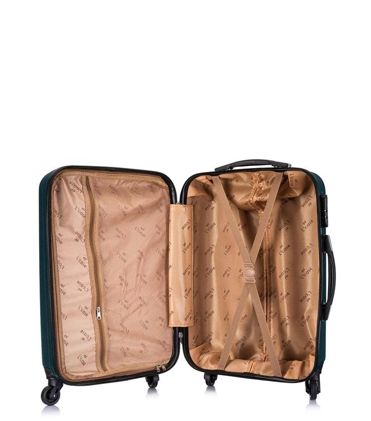 Малый чемодан спиннер Lcase Krabi Dark green (54 см)