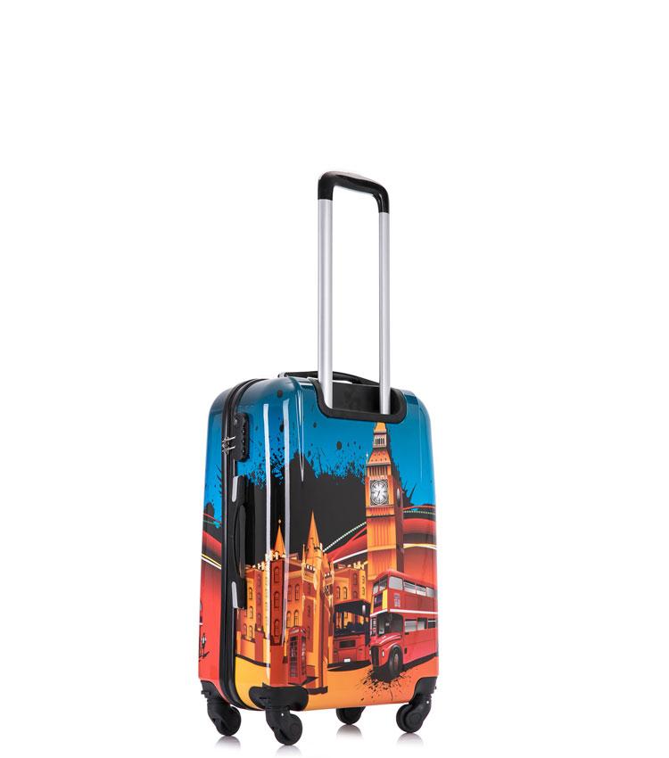 Малый чемодан спиннер Lcase LONDON BUS (52 см) ~ручная кладь~