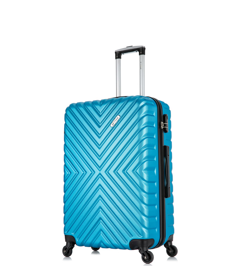 Малый чемодан спиннер Lcase New-Delhi blue (50 см) ~ручная кладь~