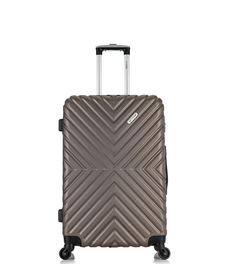 Малый чемодан спиннер Lcase New-Delhi coffee (50 см) ~ручная кладь~