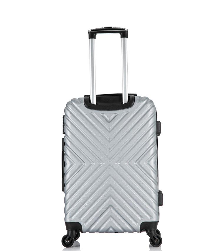 Малый чемодан спиннер Lcase New-Delhi gray (50 см) ~ручная кладь~