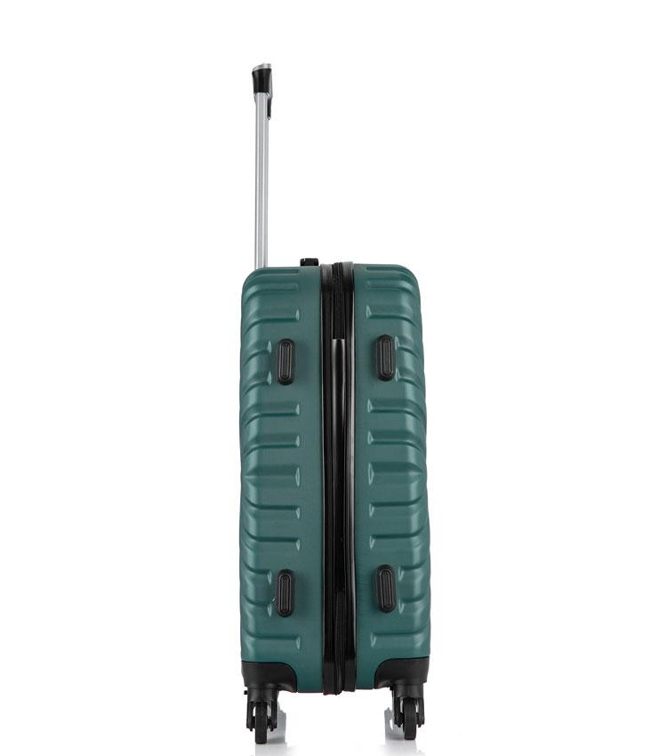 Малый чемодан спиннер Lcase New-Delhi green (50 см) ~ручная кладь~