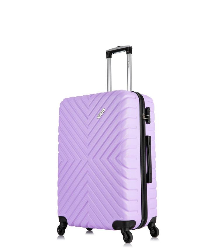 Малый чемодан спиннер Lcase New-Delhi light purpule (50 см) ~ручная кладь~