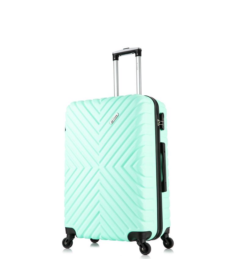 Малый чемодан спиннер Lcase New-Delhi mint (50 см) ~ручная кладь~