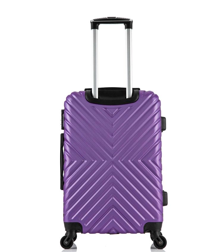 Малый чемодан спиннер Lcase New-Delhi purpule (50 см) ~ручная кладь~