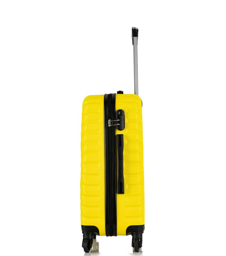 Малый чемодан спиннер Lcase New-Delhi yellow (50 см) ~ручная кладь~