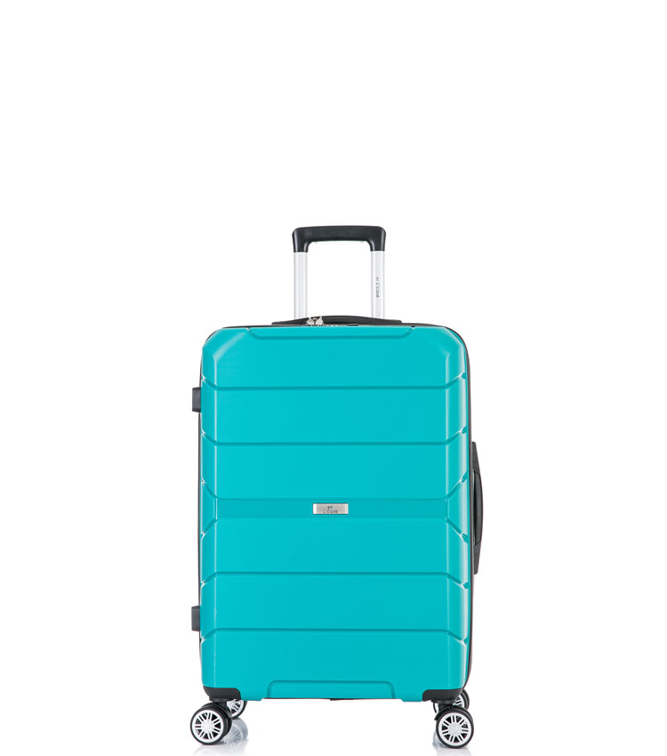 Малый чемодан спиннер Lcase Singapore green (57 см)