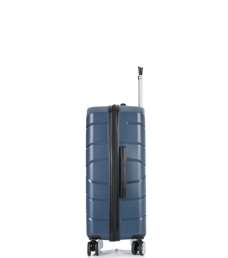 Малый чемодан спиннер Lcase Singapore navy  (57 см)