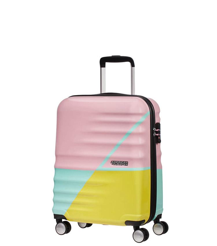 Малый чемодан American Tourister 15G*12001 Wavebreaker (55 см) - Zig Zag ~ручная кладь~