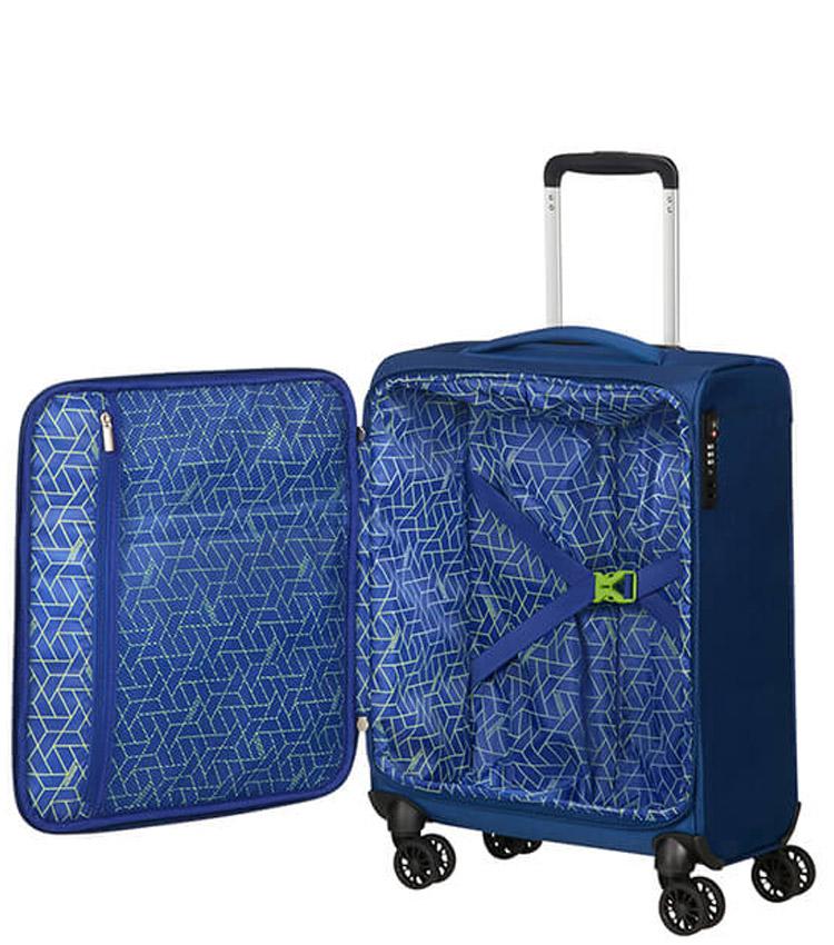 Малый чемодан American Tourister 77G*11002 Matchup (55 см) - Neon Blue ~ручная кладь~
