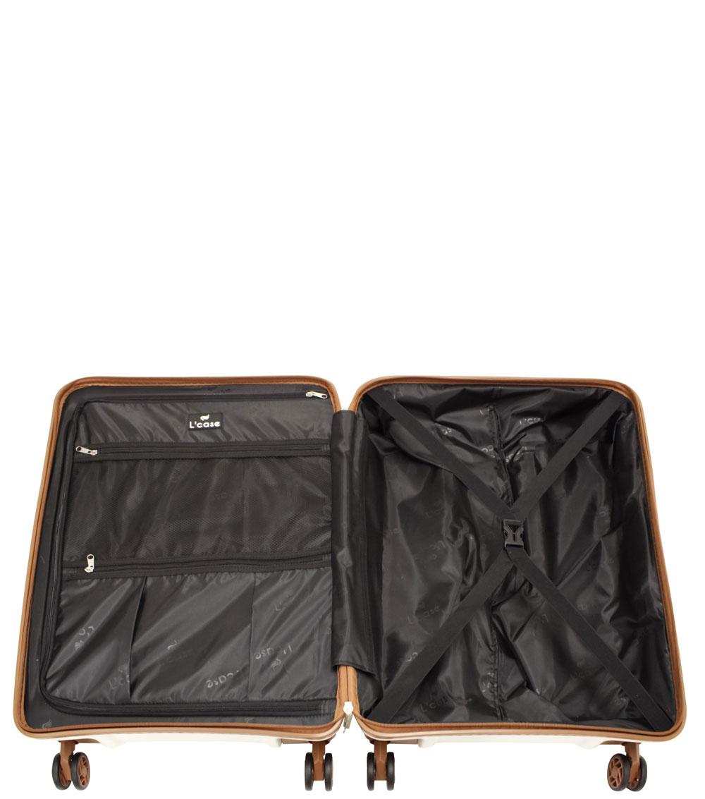 Малый чемодан L-case Berlin white ~ручная кладь~