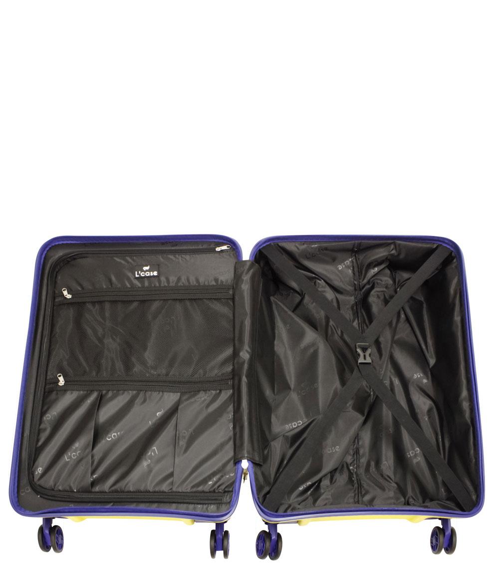 Малый чемодан L-case Berlin yellow ~ручная кладь~