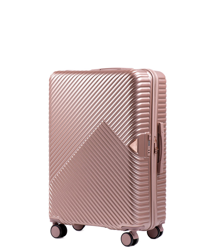 Малый чемодан Wings Dove WN01-4 - Rose Gold (55 см)