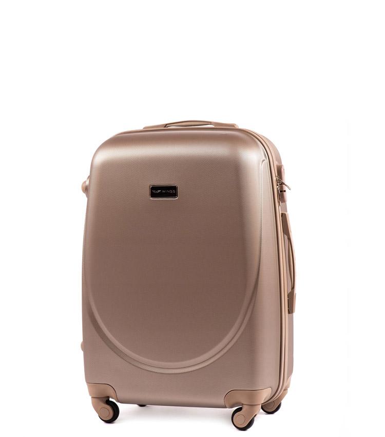 Малый чемодан Wings Goose 310-4 - Champagne (55 см)