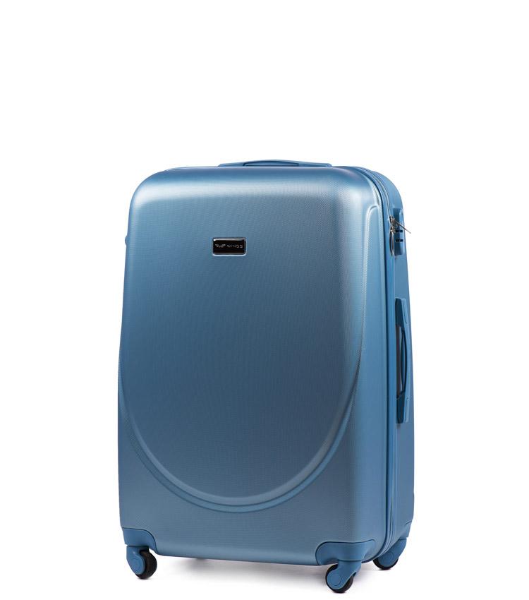Малый чемодан Wings Goose 310-4 - Silver blue (55 см)